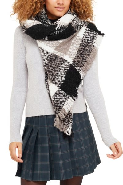 Oasis Boucle Check Scarf