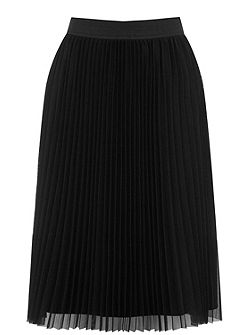 Pleated Mesh Skirt