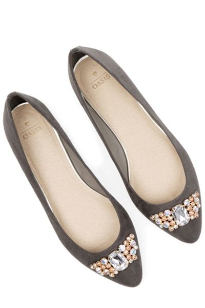 Oasis Gem Pointed Flats