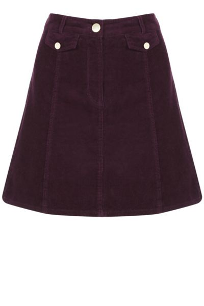 Oasis Cord Pocket Mini Skirt