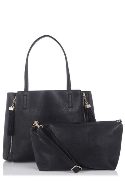 Oasis Suede Patch Joy Tassel Shopper