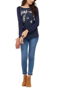 Oasis Sashiko Bird Top