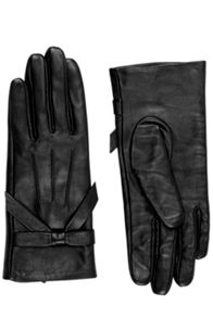 Oasis Leather Bow Glove