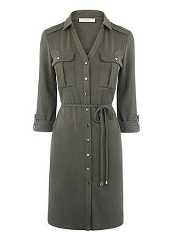 Textured Shirt Dress