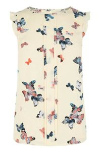 Oasis Butterfly Frill Shell Top