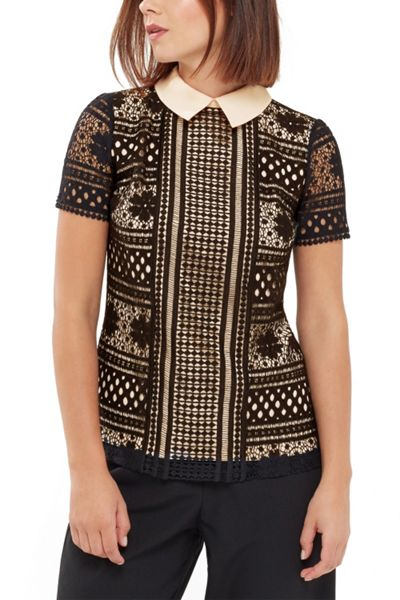 Oasis Collared Lace Tee