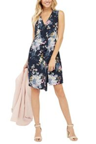 Oasis Botanical Bouquet Silk Dress