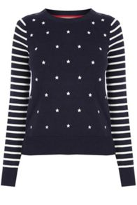 Oasis Embroidered Star Knit