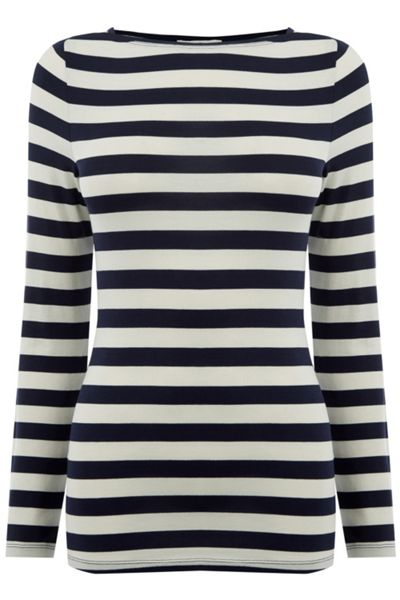 Oasis Boat Neck Stripe Top
