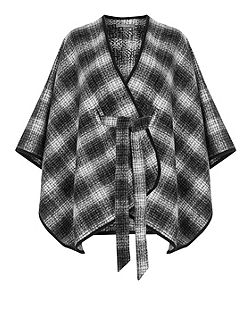 Belted Check Wrap