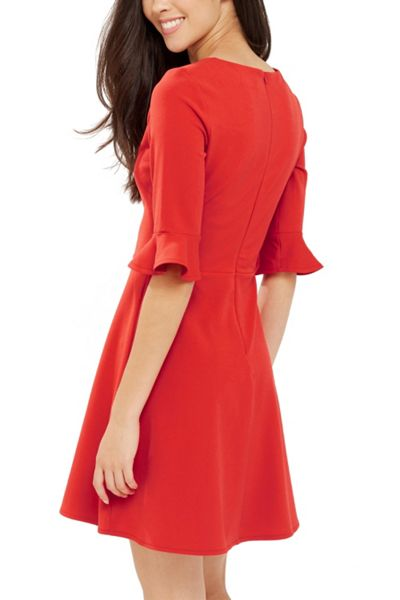Oasis Flute Sleeve Dress