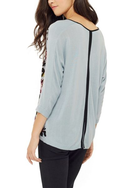 Oasis Painted Rose Knit Top