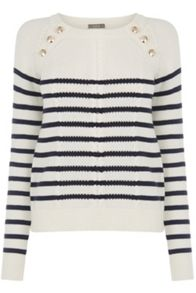 Oasis Military Stripe Cable Knit