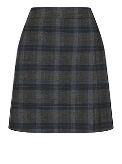 Brushed Check Poppy Kilt