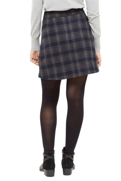 Oasis Brushed Check Poppy Kilt