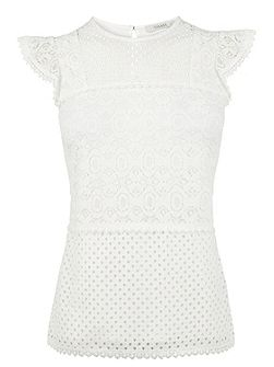 Patched Lace Top
