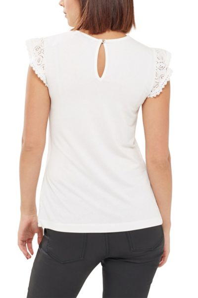 Oasis Patched Lace Top