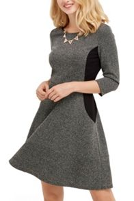 Oasis Tweed Flippy Skater Dress