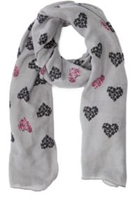 Oasis Floral Heart Scarf
