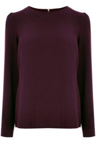 Oasis Crepe Long Sleeve Top