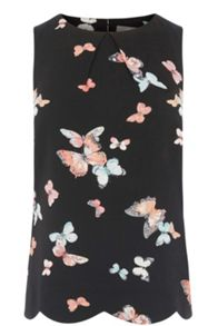 Oasis Butterfly Scallop Shell Top