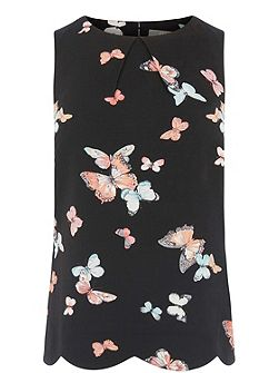 Butterfly Scallop Shell Top