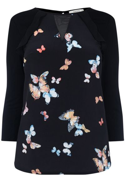 Oasis Butterfly Woven Front Blouse