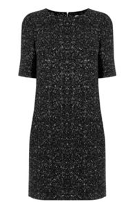 Oasis Spot Foil Popcorn Shift Dress
