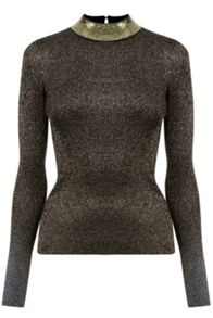 Oasis Sequin And Sparkle Turtle Neck