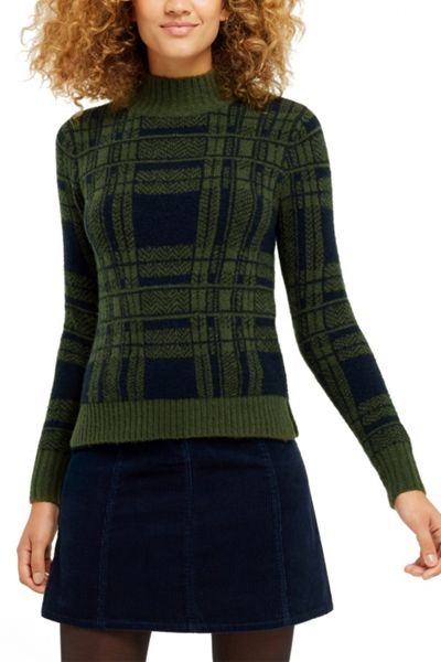 Oasis Military Check Jumper