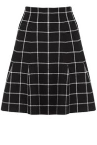 Oasis Check Flippy Skirt