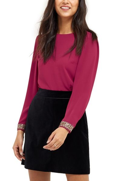 Oasis Embellished Cuff Top