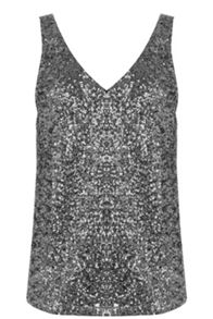 Oasis Sequin V Front And Back Vest