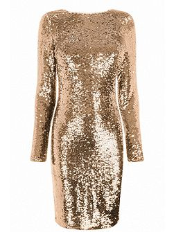 Sequin Tube Dress