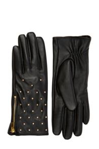 Oasis Leather Stud Gloves