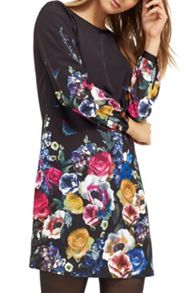 Oasis Floral And Fauna Shift Dress