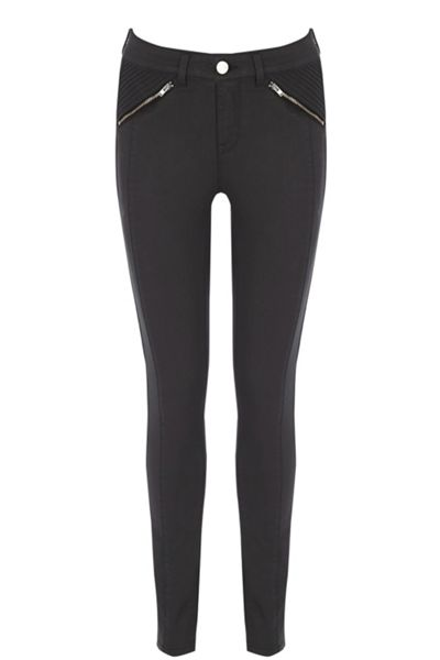 Oasis Pinstitch Coated Jeans