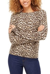 Oasis Animal Cinnamon Knit