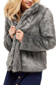 Oasis Tilly Boxy Fur Coat