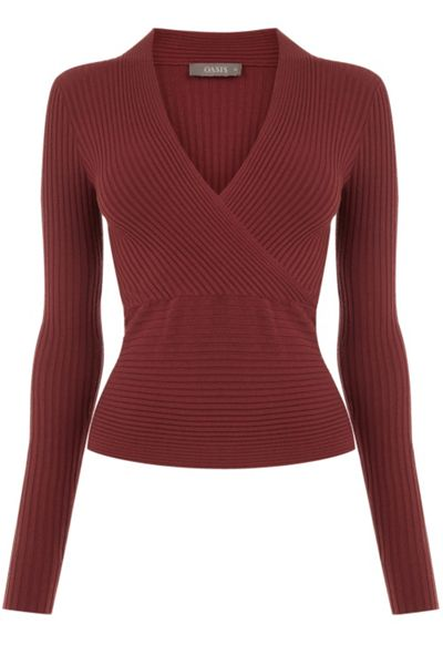 Oasis Rib Wrap Front Top