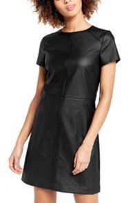 Oasis Faux Leather Shift Dress
