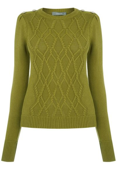 Oasis Military Cable Knit