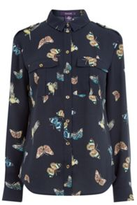 Oasis Butterfly & Bird Utility Shirt