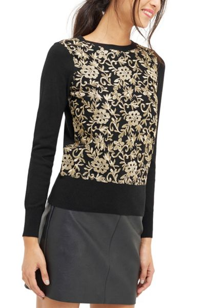Oasis Embroidered Mesh Front Top