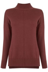 Oasis Cinnamon Funnel Neck Jumper