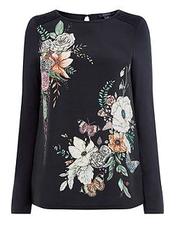 Thetford Print 3/4 Sleeve Top