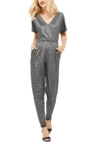 Oasis Lurex Wrap Jumpsuit