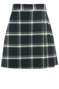 Oasis Grid Check Poppy Kilt