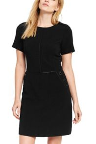Oasis Textured Button Shift Dress