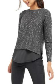 Oasis Petal Back Sequin Top